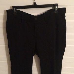 NYDJ  petite black pull in straight leg pant